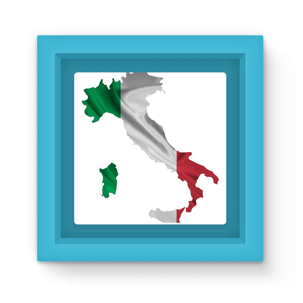 Waving Italy Continent Flag Magnet Frame Homeware Flagdesignproducts.com