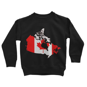 Canada Continent Flag Kids Sweatshirt Apparel Flagdesignproducts.com