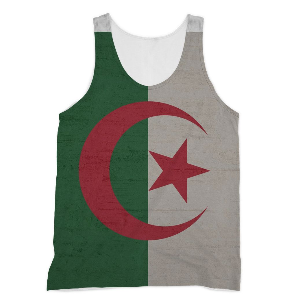 Algeria Stone Wall Flag Sublimation Vest Apparel Flagdesignproducts.com