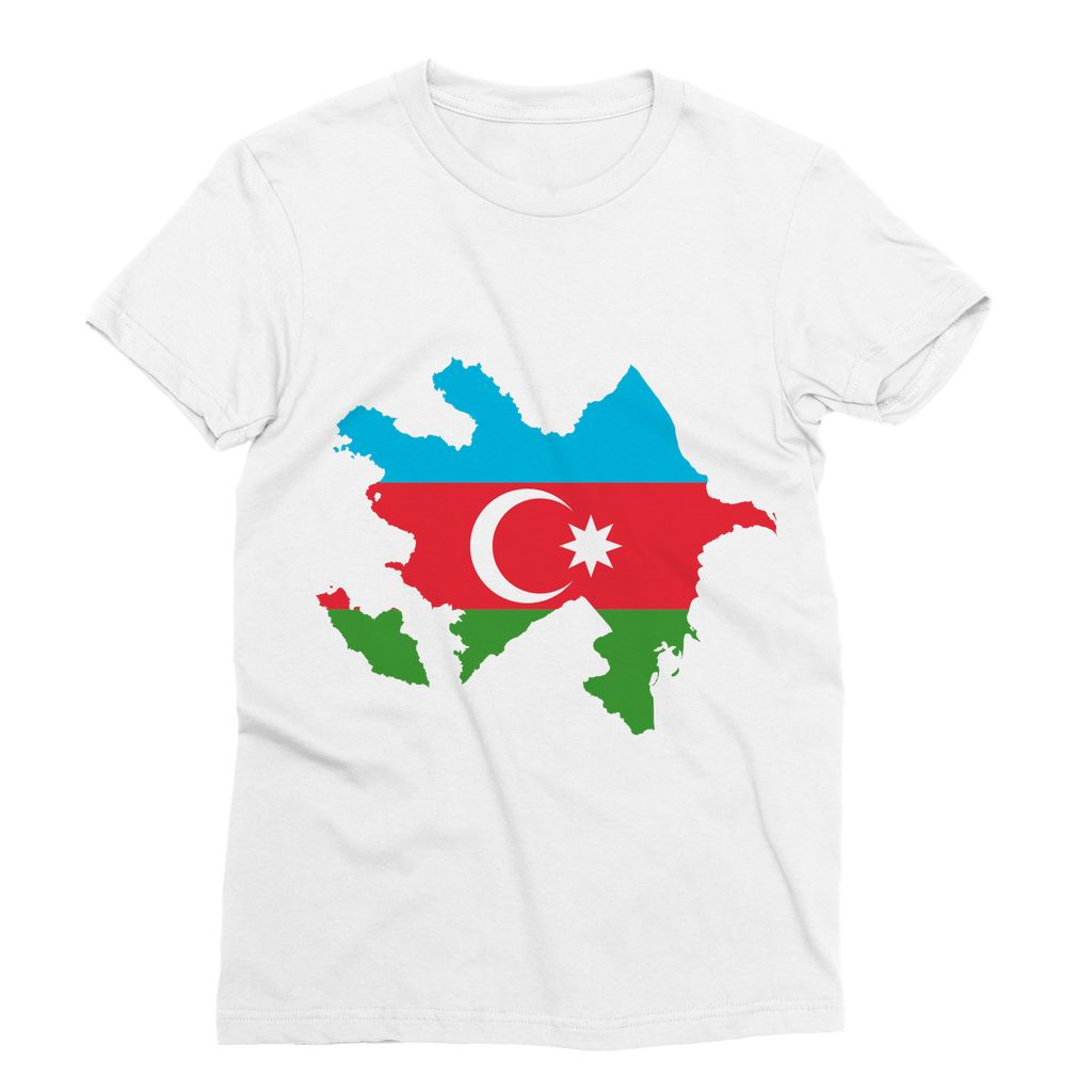 Azerbaijan Continent Flag Sublimation T-Shirt Apparel Flagdesignproducts.com