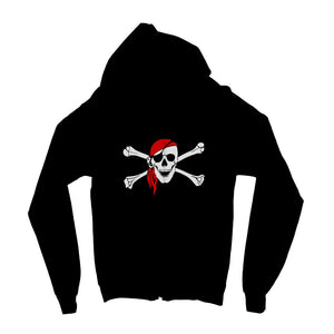 Bones And Skull Pirate Flag Kids Zip Hoodie Apparel Flagdesignproducts.com
