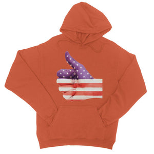 Usa Hand And Finger Flag College Hoodie Apparel Flagdesignproducts.com