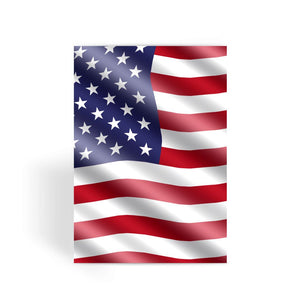 Waving United States Flag Greeting Card Prints Flagdesignproducts.com
