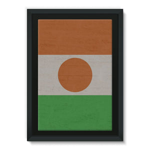 Niger Stone Wall Flag Framed Eco-Canvas Decor Flagdesignproducts.com