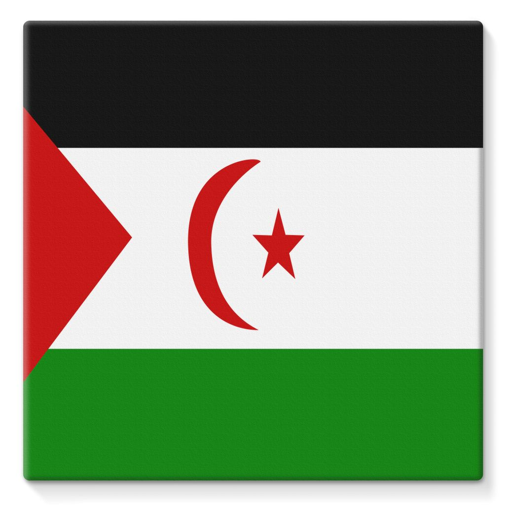 Flag Of Western Sahara Stretched Eco-Canvas Wall Decor Flagdesignproducts.com