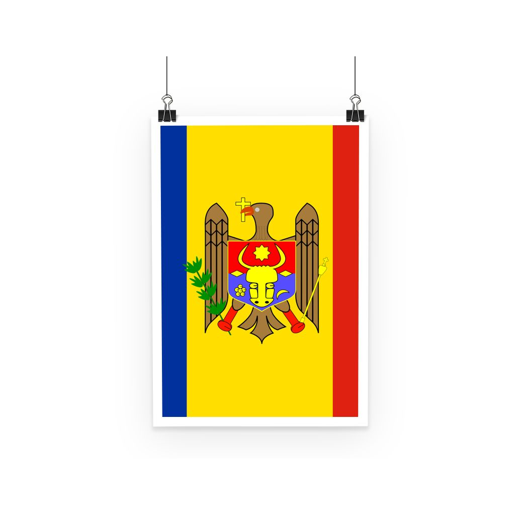 National Flag Of Moldova Poster Wall Decor Flagdesignproducts.com