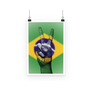 Brazil Hand Flag Poster Wall Decor Flagdesignproducts.com