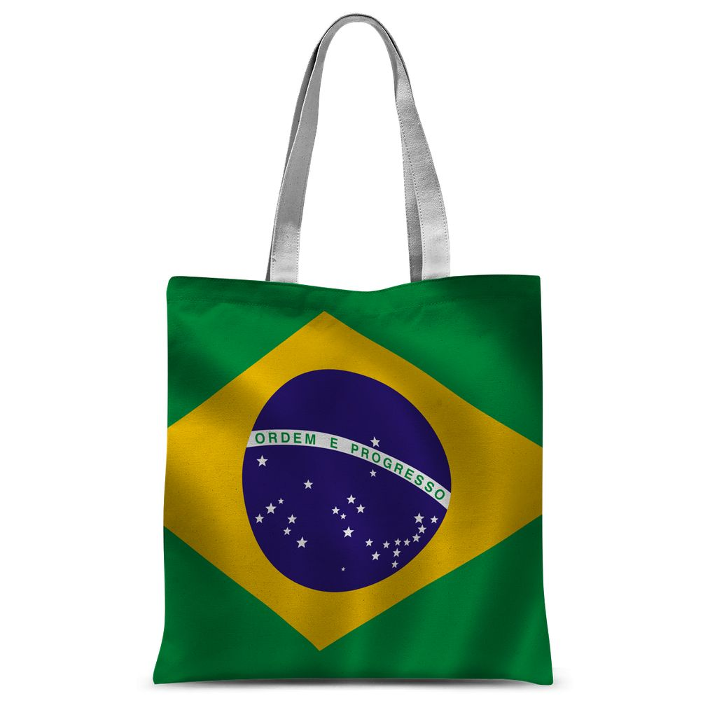 Waving Brazil Flag Sublimation Tote Bag Accessories Flagdesignproducts.com
