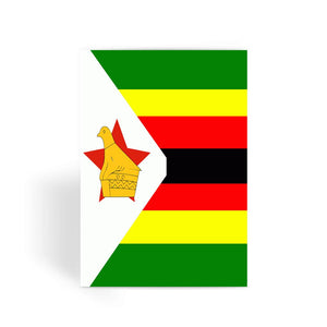 Flag Of Zimbabwe Greeting Card Prints Flagdesignproducts.com