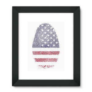 Usa Flag Finger Print Framed Fine Art Wall Decor Flagdesignproducts.com