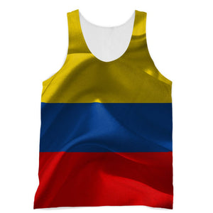 Waving Fabric Colombia Flag Sublimation Vest Apparel Flagdesignproducts.com