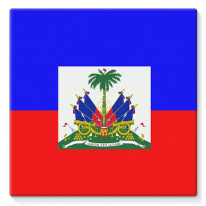 Flag Of Haiti Stretched Canvas Wall Decor Flagdesignproducts.com