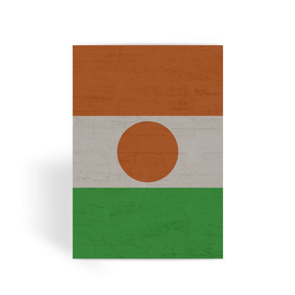 Niger Stone Wall Flag Greeting Card Prints Flagdesignproducts.com