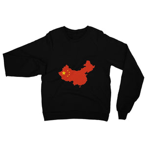 China Continent Flag Heavy Blend Crew Neck Sweatshirt Apparel Flagdesignproducts.com