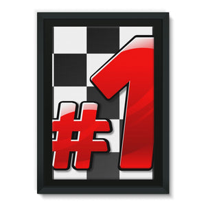 Number 1 Formula Rally Flag Framed Canvas Wall Decor Flagdesignproducts.com