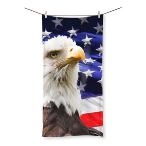 American Eagle And Usa Flag Beach Towel Homeware Flagdesignproducts.com