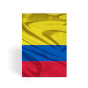 Waving Colombia Fabric Flag Greeting Card Prints Flagdesignproducts.com