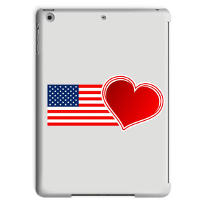 Usa Flag And Heart Tablet Case Phone & Cases Flagdesignproducts.com