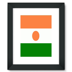 Flag Of Niger Framed Fine Art Print Wall Decor Flagdesignproducts.com