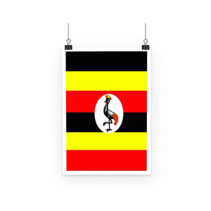 Flag Of Uganda Poster Wall Decor Flagdesignproducts.com