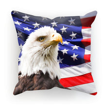 American Eagle And Usa Flag Cushion Homeware Flagdesignproducts.com