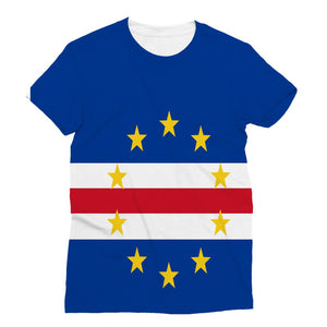 Flag Of Cape Verde Sublimation T-Shirt Apparel Flagdesignproducts.com