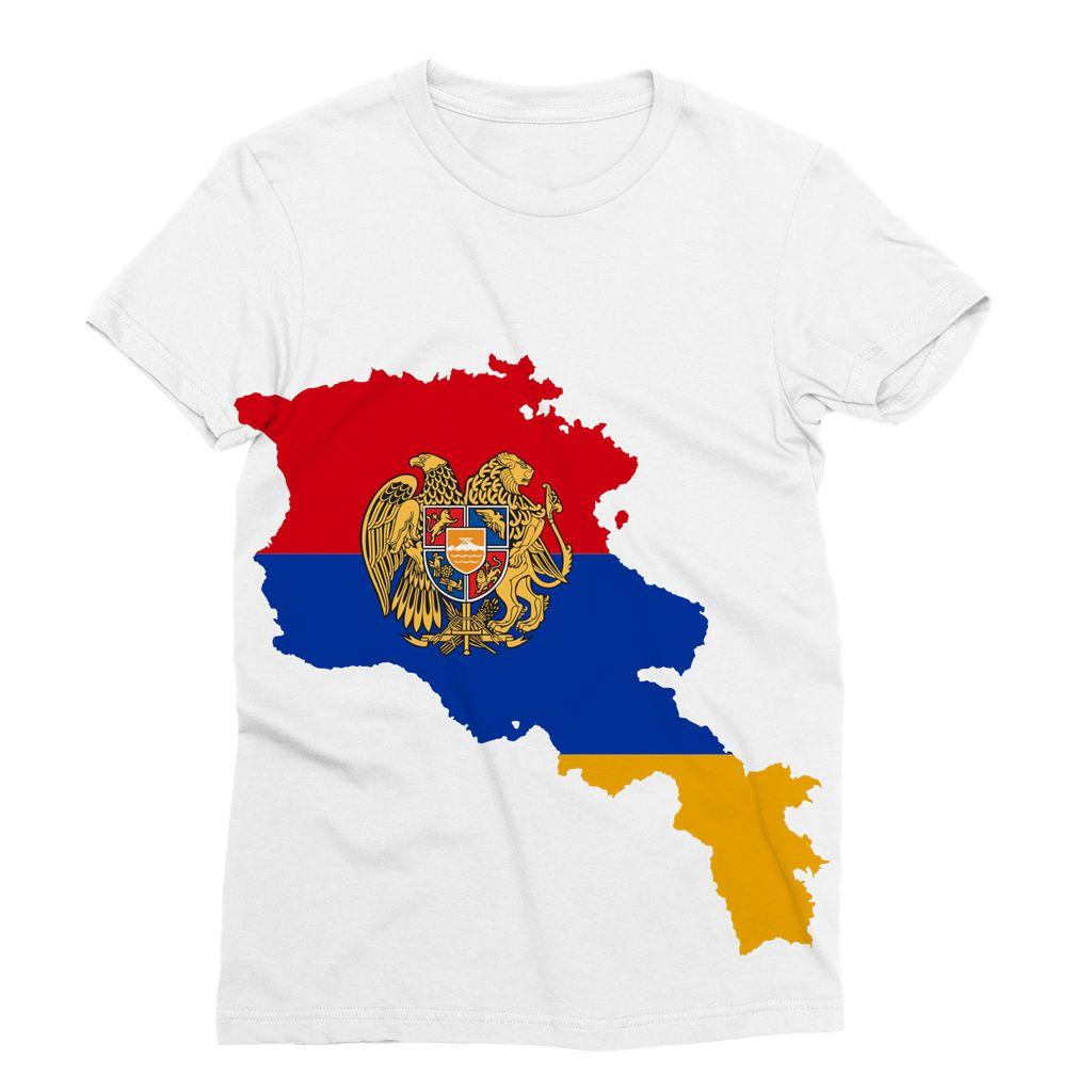 Armenia Continent Flag Sublimation T-Shirt Apparel Flagdesignproducts.com
