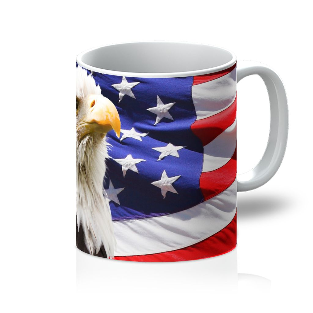 American Eagle And Usa Flag Mug Homeware Flagdesignproducts.com