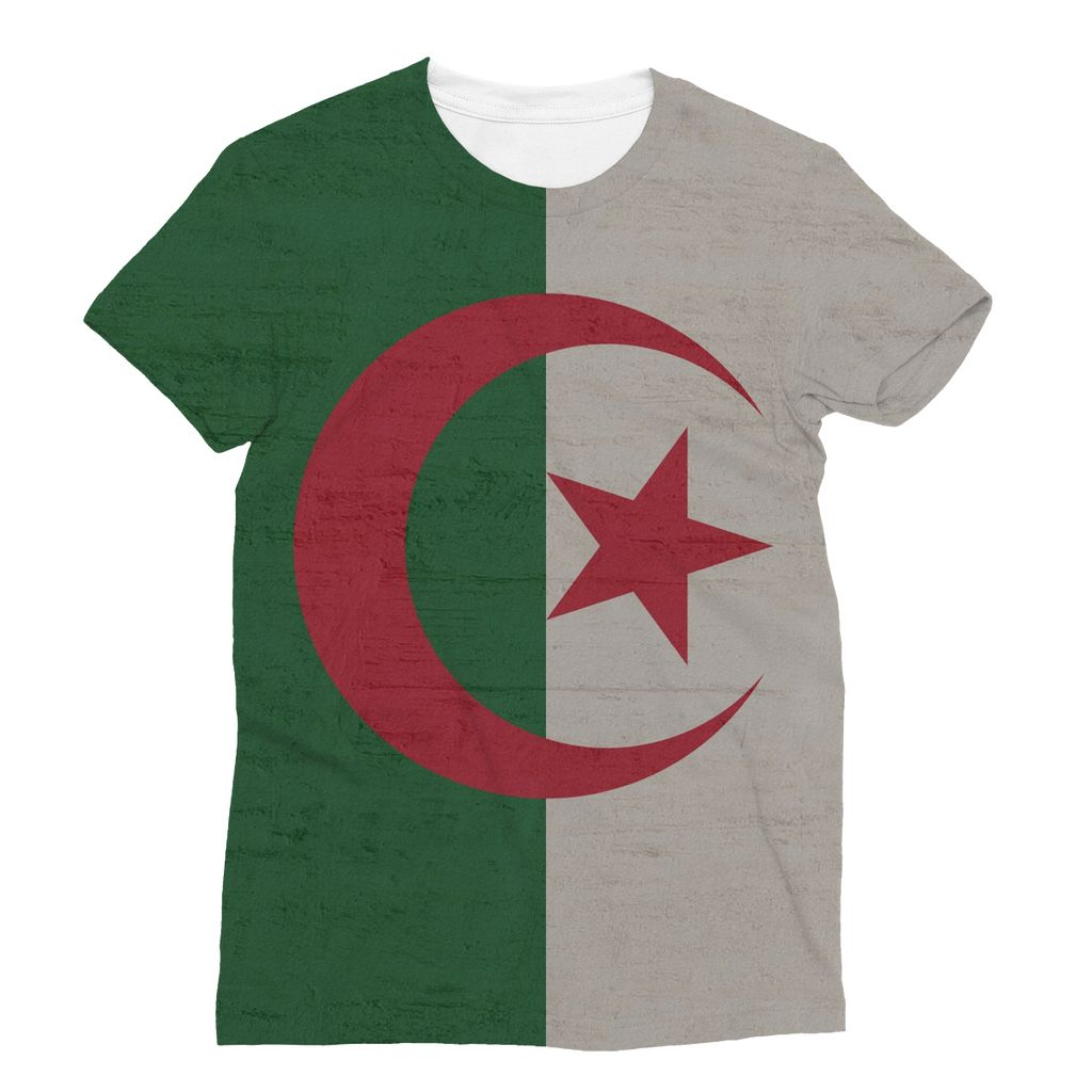 Algeria Stone Wall Flag Sublimation T-Shirt Apparel Flagdesignproducts.com