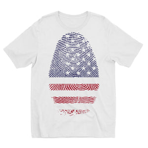 Usa Flag Finger Print Kids Sublimation T-Shirt Apparel Flagdesignproducts.com