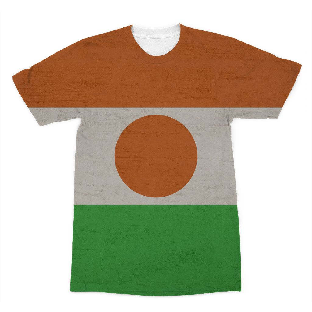 Niger Stone Wall Flag Sublimation T-Shirt Apparel Flagdesignproducts.com