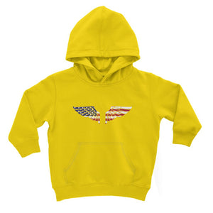 America Usa Wings Flag Kids Hoodie Apparel Flagdesignproducts.com