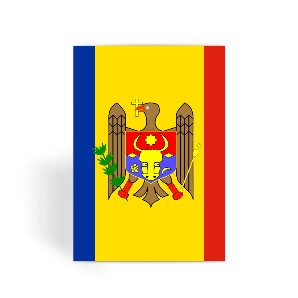 National Flag Of Moldova Greeting Card Prints Flagdesignproducts.com