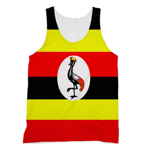 Flag Of Uganda Sublimation Vest Apparel Flagdesignproducts.com