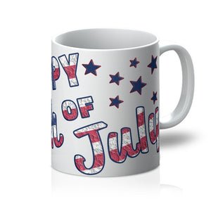 4Th July Usa Text Flag Mug Homeware Flagdesignproducts.com