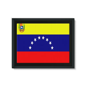 Flag Of Venezuela Framed Eco-Canvas Wall Decor Flagdesignproducts.com