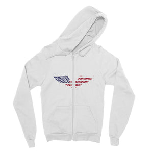 America Usa Wings Flag Fine Jersey Zip Hoodie Apparel Flagdesignproducts.com