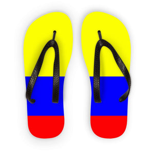 Flag Of Colombia Flip Flops Accessories Flagdesignproducts.com