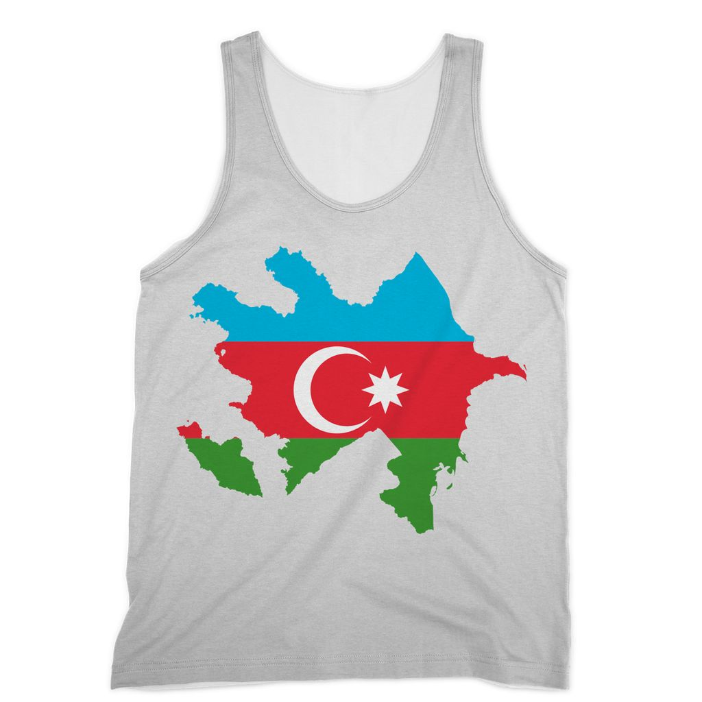 Azerbaijan Continent Flag Sublimation Vest Apparel Flagdesignproducts.com