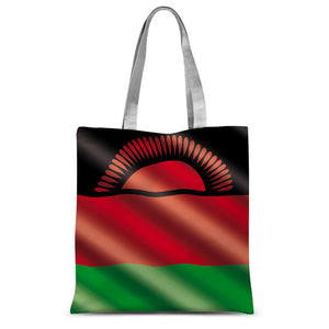 Waving Malawi Flag Sublimation Tote Bag Accessories Flagdesignproducts.com