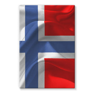 Flag Of Norway Stretched Eco-Canvas Wall Decor Flagdesignproducts.com