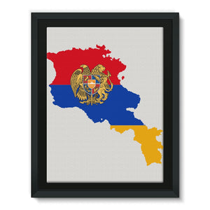 Armenia Continent Flag Framed Canvas Wall Decor Flagdesignproducts.com