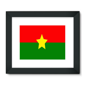 Flag Of Burkina Faso Framed Fine Art Print Wall Decor Flagdesignproducts.com