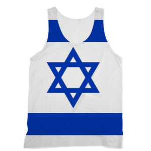 Basic Isreal Flag Sublimation Vest Apparel Flagdesignproducts.com