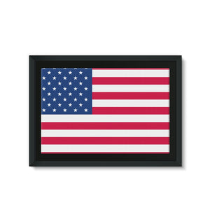 America Flag Framed Canvas Wall Decor Flagdesignproducts.com