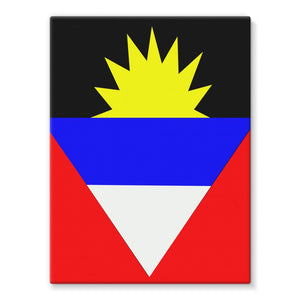 Flag Of Antigua And Barbuda Stretched Canvas Wall Decor Flagdesignproducts.com