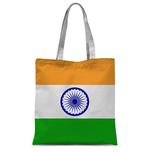Basic India Flag Sublimation Tote Bag Accessories Flagdesignproducts.com
