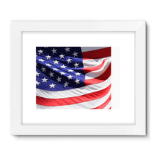 Waving America Usa Flag Framed Fine Art Print Wall Decor Flagdesignproducts.com