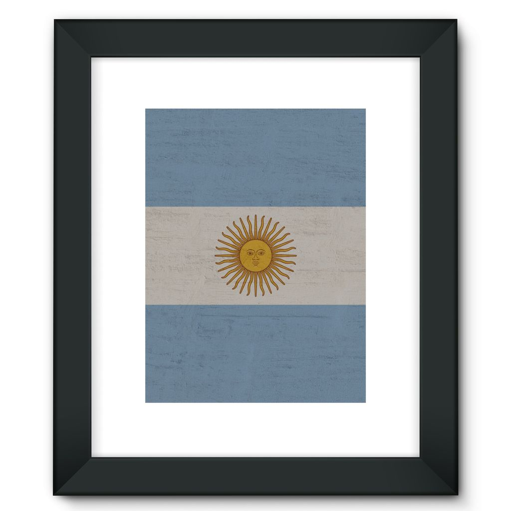 Argentina Stone Wall Flag Framed Fine Art Print Decor Flagdesignproducts.com