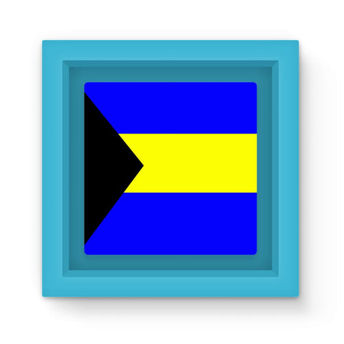 Flag Of The Bahamas Magnet Frame Homeware Flagdesignproducts.com